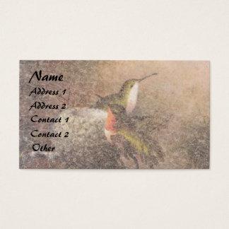 Djur för Heade Hummingbirdfåglar bygga bo Visitkort
