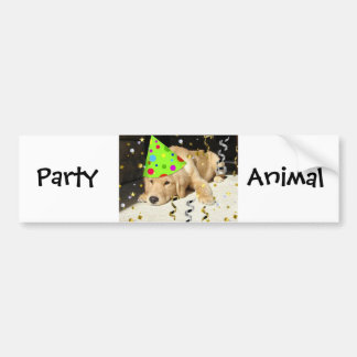 Djur guld- Retriever för födelsedagsfest Bildekal