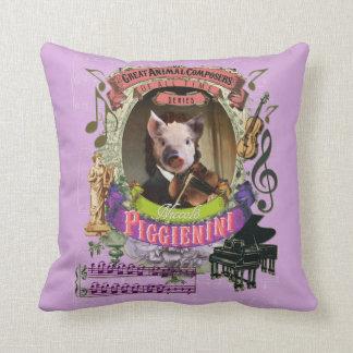 Djur kompositör Paganini Piggienini för gullig Kudde