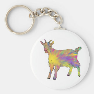 Djur konstdesign för mångfärgad rolig Artsy get Rund Nyckelring