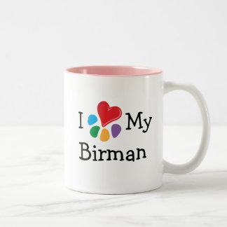 Djur Lover_I hjärta min Birman Två-Tonad Mugg