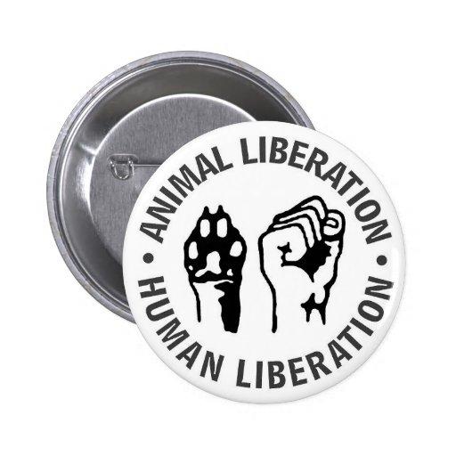 Djur- & människabefrielse knapp