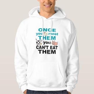 Djur medkänsla sweatshirt med luva