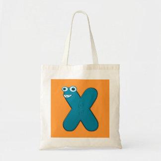 djur monogram - X Budget Tygkasse