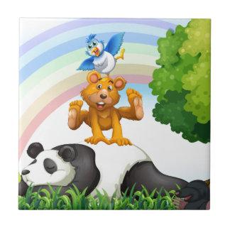 Djur och djungel kakelplatta