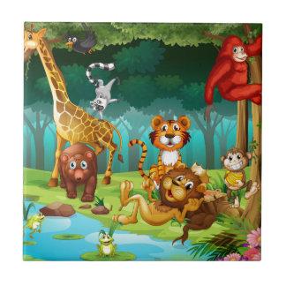 Djur och skog kakelplatta