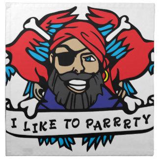 Djur pirat för party näsdukar