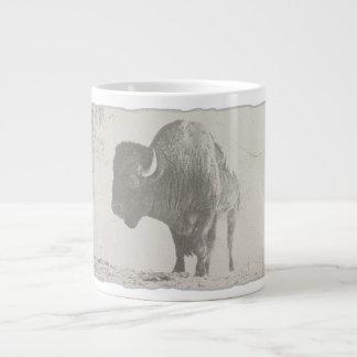djur retro popkonst för bison jumbo mugg