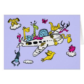 Djur som rider konst för flygplantecknadfantasi OBS kort