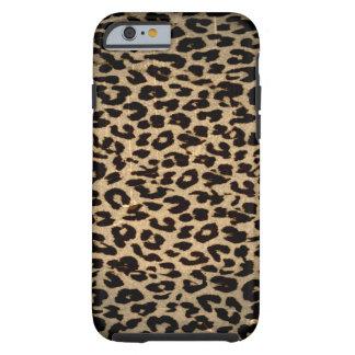 Djur struktur för vintage av leoparden tough iPhone 6 fodral