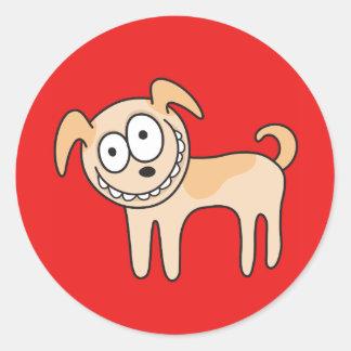 Djur tecknad för roliga ungar för valphund gulliga rund klistermärke