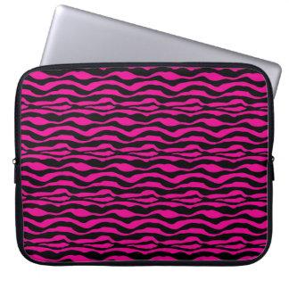 Djur trycklaptop sleeve för chic rosa sebra