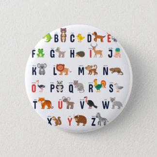 Djura ABCs - alfabet Standard Knapp Rund 5.7 Cm
