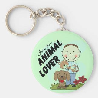 Djura älskarepojkeT-tröja och gåvor Rund Nyckelring