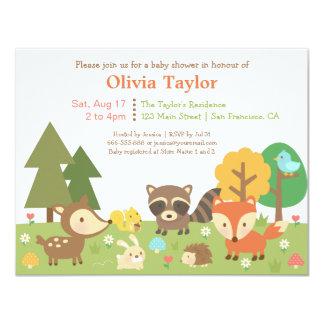 Djura Themed baby showerinbjudningar för skogsmark 10,8 X 14 Cm Inbjudningskort