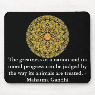 djurens rättighetercitationstecken - Mahatma Gandh Musmatta