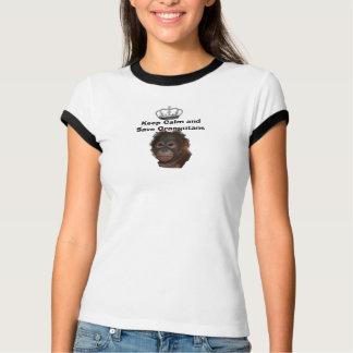 Djurliv för Orangutans för behållalugnspara T-shirt