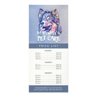 Djuromsorg sitta som ansar skönhetsalongpris, reklamkort