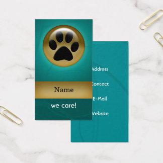 djuromsorg visitkort för elegantt tryck för