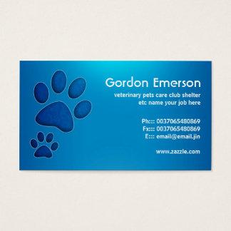 djuromsorga veterinär- visitkortar för blått visitkort