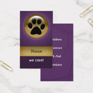 djuromsorga visitkortar för elegantt lilatasstryck visitkort