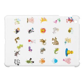 Djurt fodral för alfabetiPadkortkort iPad Mini Skal