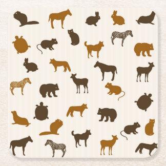 Djurt mönster 1 underlägg papper kvadrat