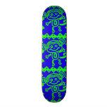 Djurt mönster för gullig grönt för apablåttlimefru anpassningsbara skateboard