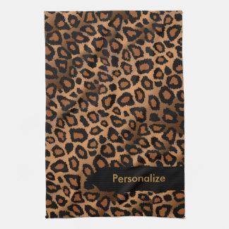 Djurt tryck för attraktiv brun Leopard Kökshandduk