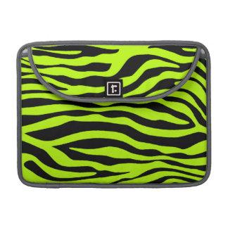 Djurt tryck för Chartreuse zebra ränder Sleeve För MacBooks