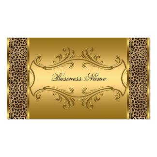 Djurt tryck för elegant flott guldsvartLeopard Visit Kort