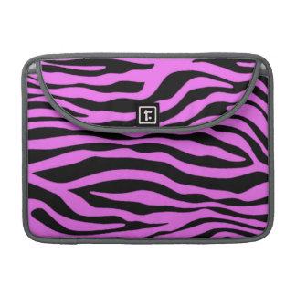 Djurt tryck för Fuchsia rosa zebra ränder Sleeve För MacBooks