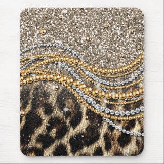 Djurt tryck för härlig för trendig leopard flickak musmattor