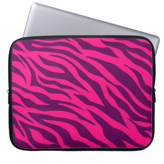 Djurt tryck för moderiktig rosa purpurfärgad zebra datorskydds fodral