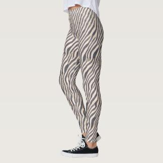 Djurt tryck - sebra - damasker leggings