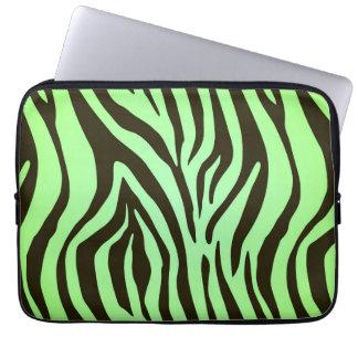Djurt tryckmönster för grön sebra datorskydd
