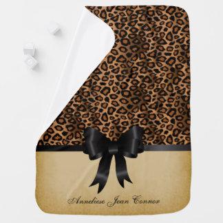 Djurt tryckmönster för Leopard Bebisfilt