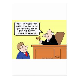 dna-domaren dömer fängelset vykort