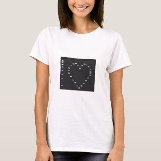 Dna-hjärta på agarosegelen tröja