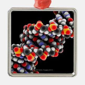 Dna-molekyl. Molekylärt modellera av DNA Julgransprydnad Metall