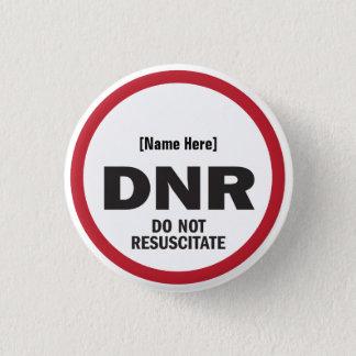 DNR Resuscitate inte Mini Knapp Rund 3.2 Cm