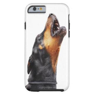 Doberman som tjuter, närbild tough iPhone 6 case