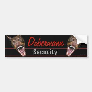 Dobermann säkerhet bildekal