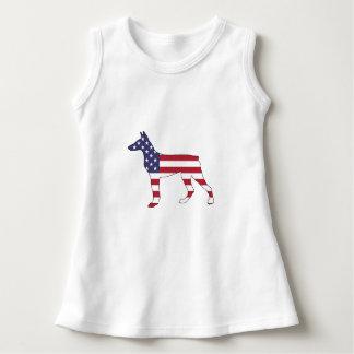 """dobermanpinscher """"amerikanska flaggan """", t-shirts"""