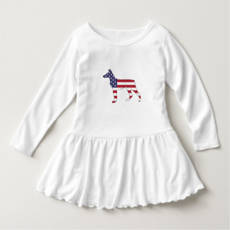 "dobermanpinscher ""amerikanska flaggan "", tröja"