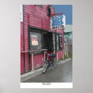 Docs cykel shoppar, Stockton, Kalifornien Poster
