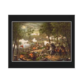 Död av generalen Jackson slågen in kanfas Canvastryck