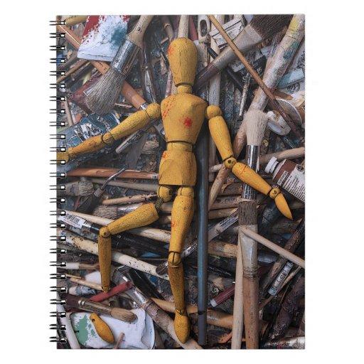 Död av konst spiral anteckningsböcker