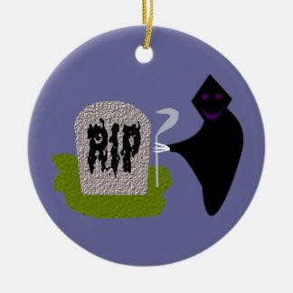 Död i den kyrkogårdHalloween prydnaden Julgransprydnad Keramik