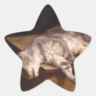 Död katt av Theodore Gericault Stjärnformat Klistermärke